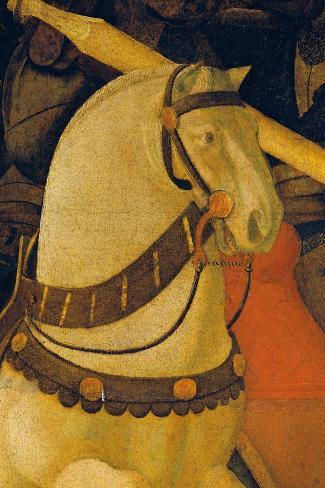 Rout of St Roman (Battle of St Roman)-Paolo Uccello-Stretched Canvas Print