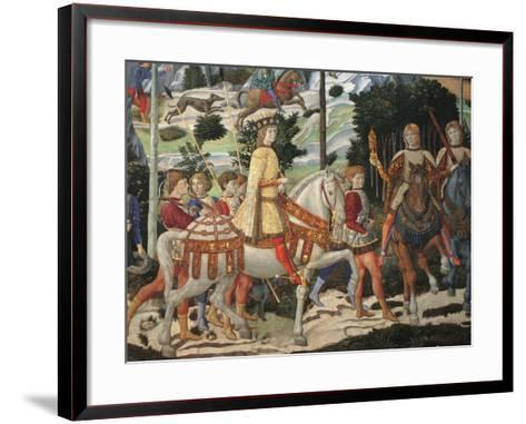 Magi Chapel. Journey of the Magi (the Magi Ride)-Benozzo Gozzoli-Framed Art Print