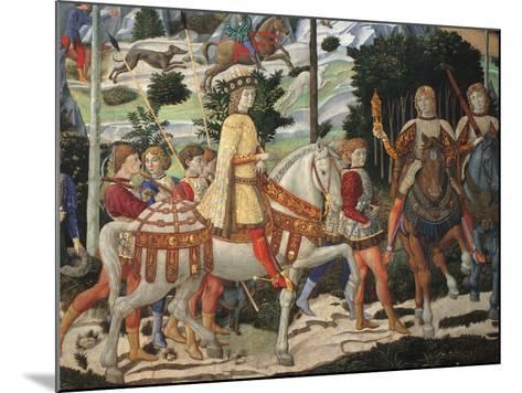 Magi Chapel. Journey of the Magi (the Magi Ride)-Benozzo Gozzoli-Mounted Giclee Print
