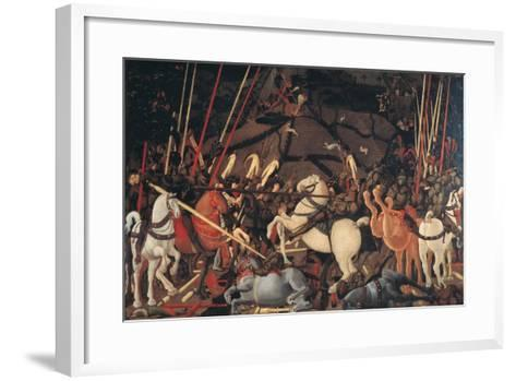 Rout of St Roman (Battle of St Roman)-Paolo di Dono (Uccello)-Framed Art Print