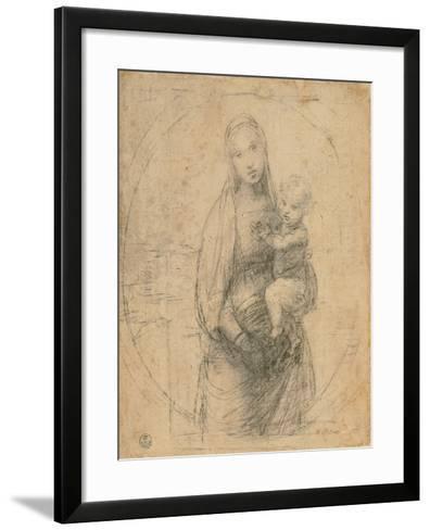 Madonna and Child at Two Thirds Figure-Sanzio Raffaello-Framed Art Print