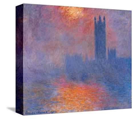 London Houses of Parliament. the Sun Shining Through the Fog-Claude Monet-Stretched Canvas Print