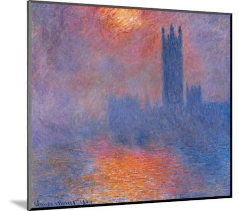 London Houses of Parliament. the Sun Shining Through the Fog-Claude Monet-Mounted Giclee Print