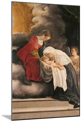 Madonna with Child with St Frances of Rome and Anm Angel-Orazio Gentileschi-Mounted Giclee Print