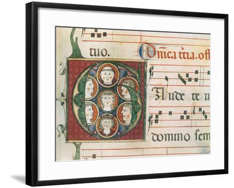 Gradual A: Initial Letter G, Gaudete-Unknown-Framed Art Print