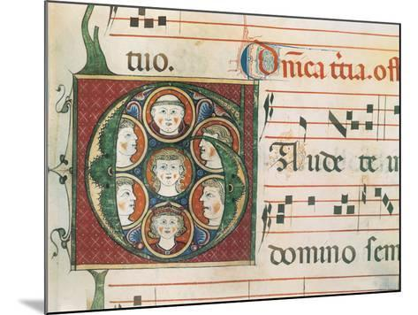 Gradual A: Initial Letter G, Gaudete-Unknown-Mounted Giclee Print