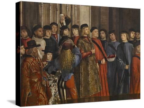 Miracle of the Relic of the True Cross at the Rialto Bridge Or the Healing of the Possessed Man-Vittore Carpaccio-Stretched Canvas Print