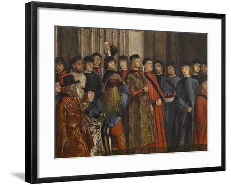 Miracle of the Relic of the True Cross at the Rialto Bridge Or the Healing of the Possessed Man-Vittore Carpaccio-Framed Art Print