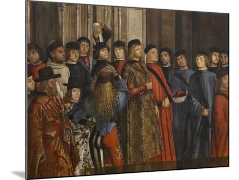 Miracle of the Relic of the True Cross at the Rialto Bridge Or the Healing of the Possessed Man-Vittore Carpaccio-Mounted Giclee Print