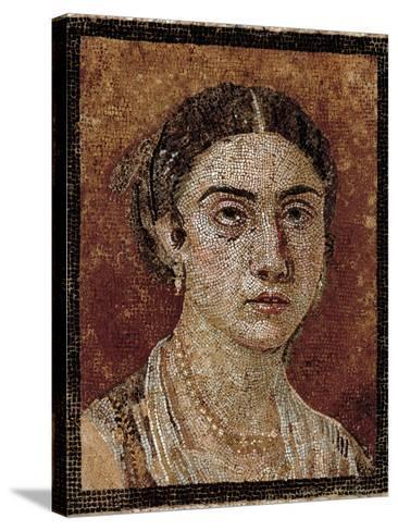 Portrait of a Pompeian Matron (Woman's Portrait), 1st Century, Mosaic Floor--Stretched Canvas Print