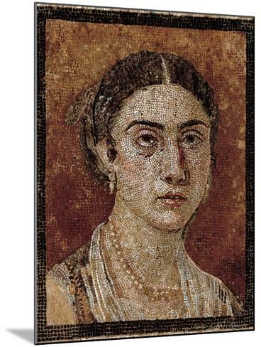Portrait of a Pompeian Matron (Woman's Portrait), 1st Century, Mosaic Floor--Mounted Giclee Print