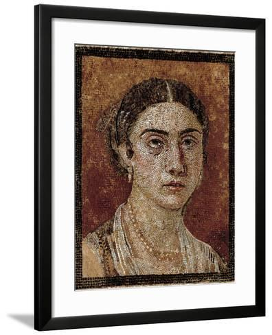 Portrait of a Pompeian Matron (Woman's Portrait), 1st Century, Mosaic Floor--Framed Art Print