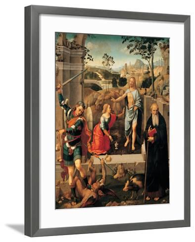 Christ Appearing To Mary Magdalene-Viti Timoteo-Framed Art Print