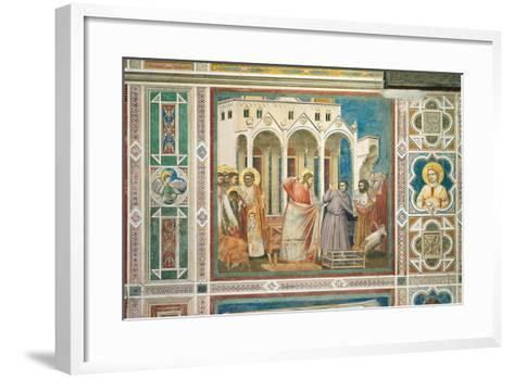 Scenes From the Life of Christ Expulsion of the Money Changers From the Temple-Giotto di Bondone-Framed Art Print