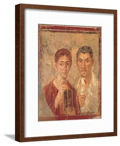 Paquius Proculus and His Wife (Terentius Neo and His Wife)--Framed Art Print