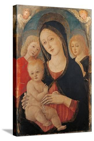 Madonna with Child and Two Angels-Cozzarelli Guidoccio-Stretched Canvas Print