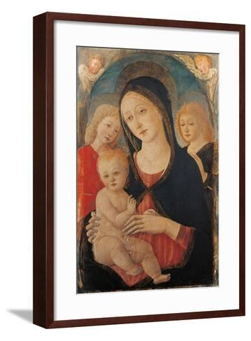 Madonna with Child and Two Angels-Cozzarelli Guidoccio-Framed Art Print