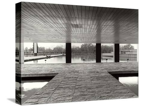The Entrance of the Offices in the Mondadori Buiding by Oscar Niemeyer, 1970-1974--Stretched Canvas Print