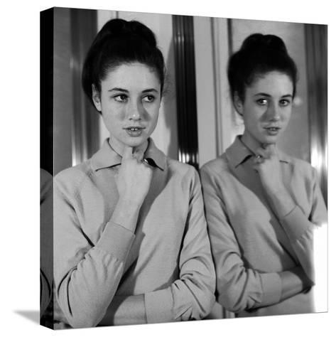 Gigliola Cinquetti with Her Arms Folded--Stretched Canvas Print