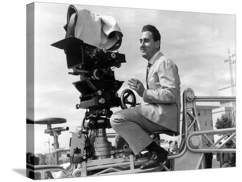 Alberto Sordi on the Set--Stretched Canvas Print