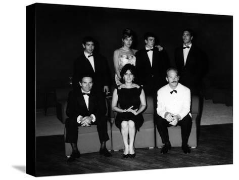 The Producer, Director, Actors and Crew of 'Mamma Roma' at the Film Festival, Venice, Sept 1962--Stretched Canvas Print