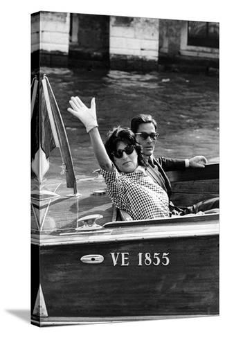 Anna Magnani and Pier Paolo Pasolini--Stretched Canvas Print