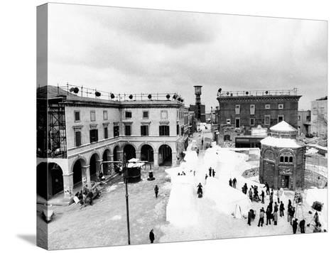 Aerial View of the Set of the Film Amarcord--Stretched Canvas Print