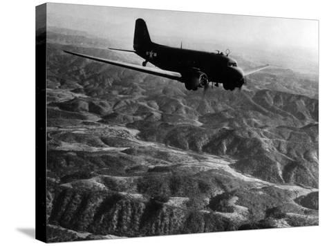 U.S. Plane Flying over the Himalayas--Stretched Canvas Print