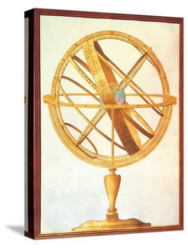 Armillary sphere, 1612-1615. Royal Library, Turin, Italy--Stretched Canvas Print