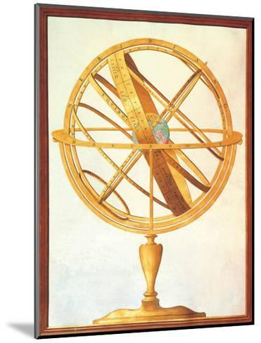 Armillary sphere, 1612-1615. Royal Library, Turin, Italy--Mounted Art Print