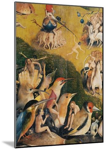 Garden of Earthly Delights,(Martyrs & Angels) by Hieronymus Bosch, c. 1503-04. Prado. Detail.-Hieronymus Bosch-Mounted Art Print