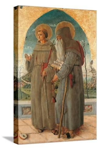 St. Francis and St. Anthony Abbot-Schiavone Chiulinovich-Stretched Canvas Print