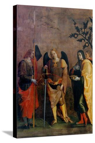 St. Bovo, Archangel Michael, St. Cosmas and St. Damian-Caroto Gian Francesco-Stretched Canvas Print