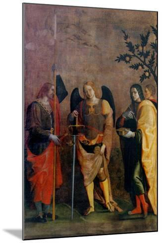 St. Bovo, Archangel Michael, St. Cosmas and St. Damian-Caroto Gian Francesco-Mounted Art Print