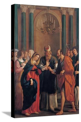 Marriage of the Virgin Mary-Bartolomeo Gennari-Stretched Canvas Print