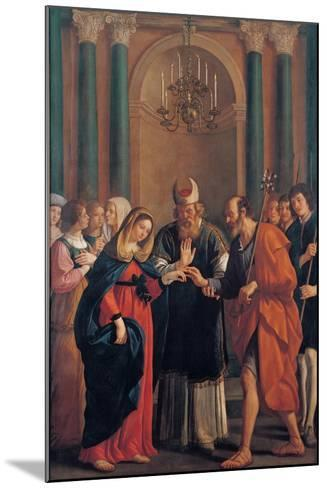 Marriage of the Virgin Mary-Bartolomeo Gennari-Mounted Art Print