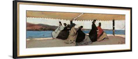 Rotunda at Palmieri-Giovanni Fattori-Framed Art Print