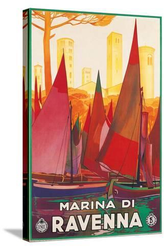 Travel Poster for Marina di Ravenna, Italy--Stretched Canvas Print