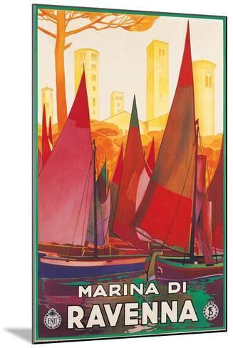 Travel Poster for Marina di Ravenna, Italy--Mounted Art Print