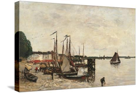 Anvers, the Port-Eug?ne Boudin-Stretched Canvas Print
