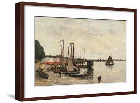 Anvers, the Port-Eug?ne Boudin-Framed Art Print