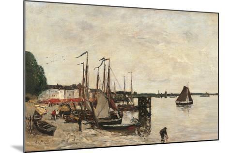 Anvers, the Port-Eug?ne Boudin-Mounted Art Print