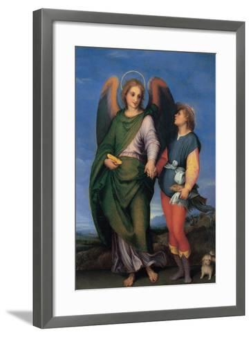 Archangel Raphael with Tobias-Andrea del Sarto-Framed Art Print