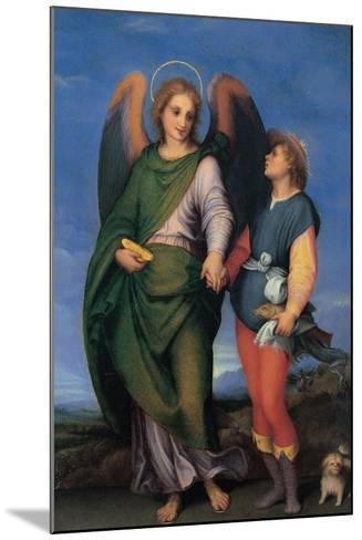 Archangel Raphael with Tobias-Andrea del Sarto-Mounted Art Print
