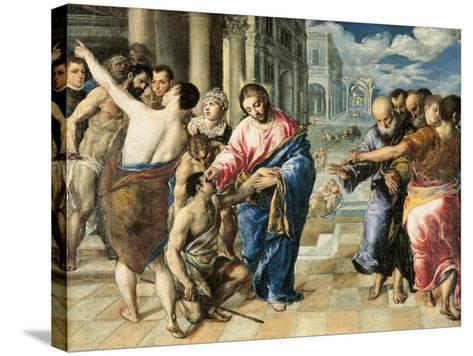 Christ Healing the Blind-El Greco-Stretched Canvas Print