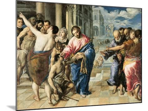 Christ Healing the Blind-El Greco-Mounted Art Print