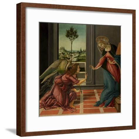 Annunciation-Sandro Botticelli-Framed Art Print