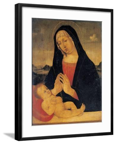 Madonna Adoring the Sleeping,17th c. copy from 15th c. Bellini Giovanni. Brera Art Gallery, Milan-Giovanni Bellini-Framed Art Print