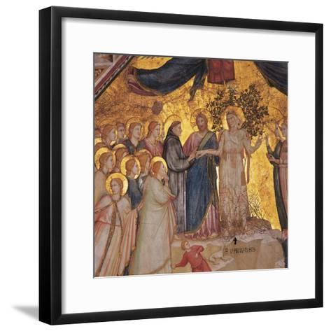 Mystical Marriage of St. Francis to Poverty-Giotto di Bondone-Framed Art Print
