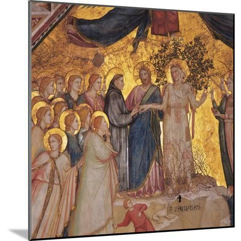 Mystical Marriage of St. Francis to Poverty-Giotto di Bondone-Mounted Art Print